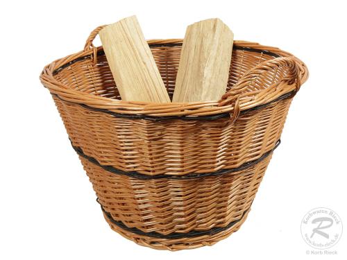 Holzkorb, Tragekorb, Erntekorb, Gartenkorb, ungefüttert (D:60cm)