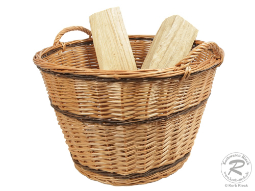 Holzkorb, Tragekorb, Erntekorb, Gartenkorb, ungefüttert (D:55cm)