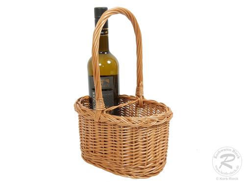 Flaschenkorb Korb für 2 Flaschen, gesottene Weide