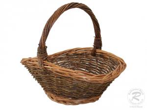 Gartenkorb - klein, Einkaufskorb, Handkorb, Pflanzkorb Korb  aus Weide (29x25x25)