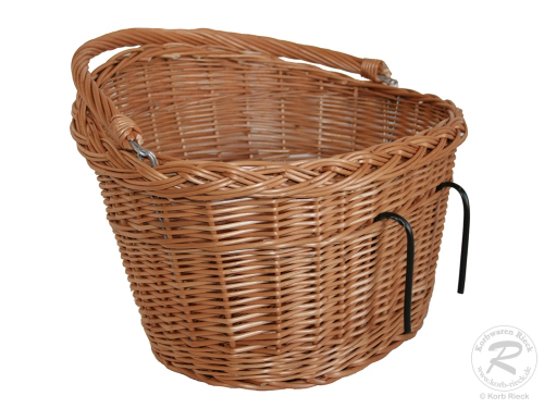Fahrradkorb für den Lenker Einkaufskorb Handkorb Weide (40x32x22-27/38)
