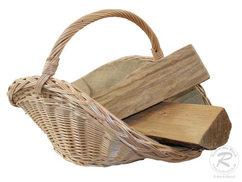 Holzkorb Korb Tragekorb aus gesottener Weide (65x44x42)