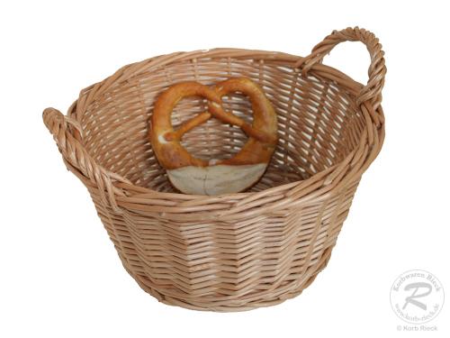 Brotkorb, Dekokorb aus Weide (D:26cm H:16cm)