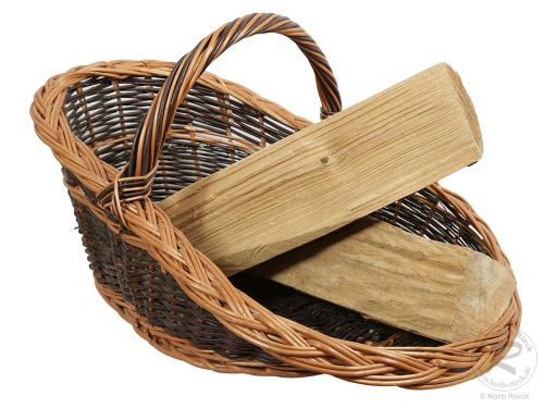 Holzkorb Korb Tragekorb aus gesottener Weide (69x47x37)