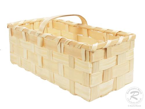 Handkorb, Beerenkorb, Erntekorb, Dekokorb aus Holzspan (64x47x23)