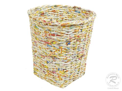Papierkorb aus Papierschnur (D:30cm)