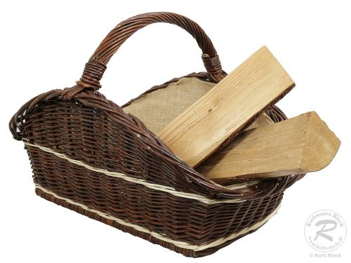 Holzkorb Korb Tragekorb aus gesottener Weide (66x48x45)