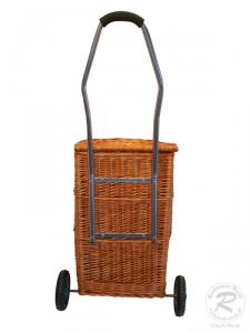 Korbwagen Marktwagen Transportwagen Klassisch aus Weide Gesamthöhe 98cm