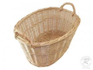 Wäschekorb, klein, aus Weide. Korb für Wäsche (50x40x26/31)