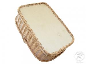 Tablett aus Weide, Trage - Korb - Tablett (48x38x32)
