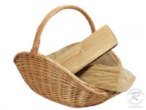 Holzkorb Korb Tragekorb aus gesottener Weide (62x41x44)