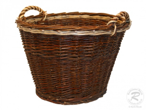 Erntekorb, Holzkorb, Tragekorb, Gartenkorb, Weide Korb (D:60cm)