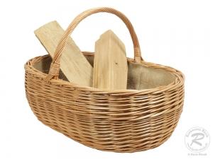 Holzkorb Korb Tragekorb aus gesottener Weide (66x46x45)
