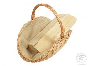 Holzkorb Korb Tragekorb aus gesottener Weide (55x35x40)