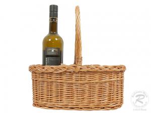Flaschenkorb Korb für 3 Flaschen gesottene Weide