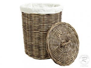 Wäschekorb, Holzkorb - Korb aus Rohr (D:40)