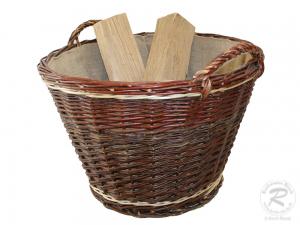 Erntekorb, Holzkorb, Tragekorb, Gartenkorb aus Weide (D:60cm)