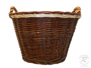 Erntekorb, Holzkorb, Tragekorb, Gartenkorb, Weide Korb (D:50cm)