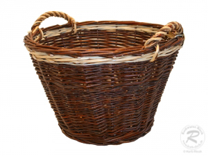 Erntekorb, Holzkorb, Tragekorb, Gartenkorb, Weide Korb (D:45cm)