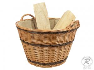 Holzkorb, Tragekorb, Korb gefüttert Größe 2