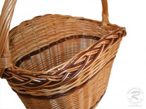 Einkaufskorb Handkorb Weide Korb ungefüttert Größe 2 (43x30x47)