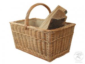 Holzkorb Korb Tragekorb aus gesottener Weide (50x33x25/47)