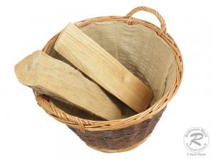 Holzkorb, Tragekorb, Pflanzkorb, Gartenkorb, Korb gefüttert (D:50cm)