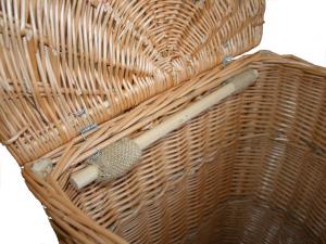 Tragekorb, Kiepe, Rucksackkorb aus Weide mit Deckel (43x36x60)