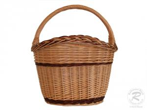 Einkaufskorb Handkorb Weide Korb ungefüttert Größe 1 (36x26x42)