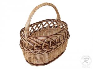 Kinderkorb, Kinder-Einkaufskorb Weide Korb Größe 1 (25x15x24)