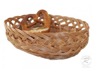 Brotkorb, Dekokorb aus Weide (L:37cm B:28cm H:10cm)