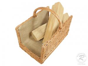 Holzkorb Korb Tragekorb aus gesottener Weide (48x30x36)