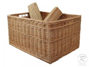 Holzkorb Korb Tragekorb aus gesottener Weide (62x41x32cm)