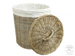 Wäschekorb, Holzkorb - Korb aus Rohr (D:50)