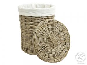 Wäschekorb, Holzkorb - Korb aus Rohr (D:38)