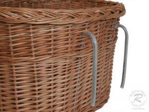 Fahrradkorb für den Lenker Einkaufskorb Handkorb Weide ungefüttert