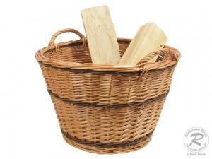 Holzkorb, Tragekorb, Erntekorb, Gartenkorb, ungefüttert (D:50cm)