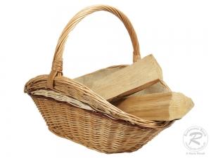 Holzkorb Korb Tragekorb aus gesottener Weide (66x46x25/47)