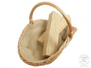 Holzkorb Korb Tragekorb aus gesottener Weide (68x48x50)