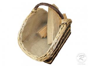 Holzkorb Korb Tragekorb aus gesottener Weide (64x40x42)