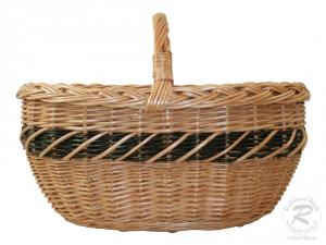 Einkaufskorb Handkorb Weide Korb ungefüttert (50x35x33)