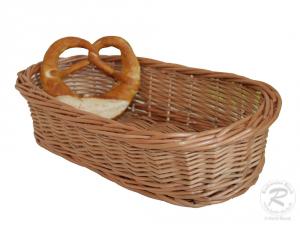 Brotkorb, Dekokorb aus Weide (L:36cm B:17cm H:8cm)