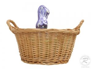 Osternest, Osterkorb aus Weide (D:27cm H:17cm)