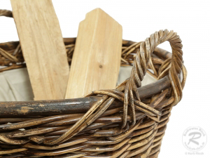 Holzkorb, Tragekorb, Kaminholzkorb Korb für Brennholz (D:60)