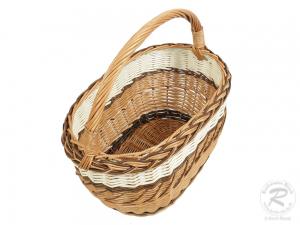 Einkaufskorb Handkorb Weide Korb ungefüttert (43x27x41)