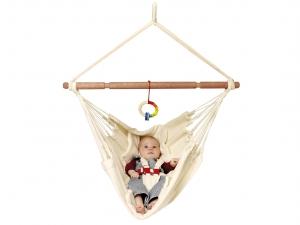 LA SIESTA - Babyhängematten-Set Bio-Babyhängematte Hängemattenständer