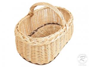 Einkaufskorb Handkorb Weide Korb ungefüttert (46x31x31)