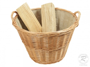 Holzkorb, Tragekorb, Pflanzkorb, Gartenkorb, Korb gefüttert (D:55)