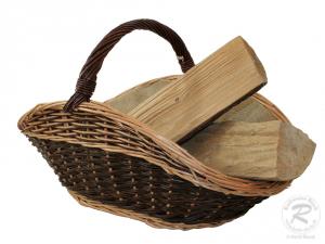 Holzkorb Korb Tragekorb aus gesottener Weide (66x46x44)