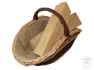 Holzkorb Korb Tragekorb aus gesottener Weide (58x37x35)